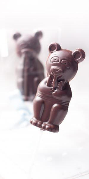 Mr. Bear - Dark sugar free lollipop