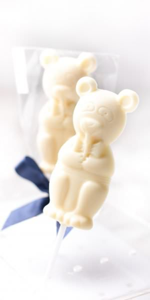 Mr. Bear - White sugar free lollipop