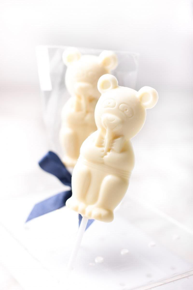 Mr. Bear - White sugar free lollipop